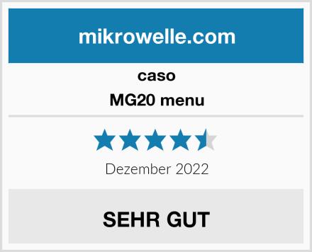 caso MG20 menu Test