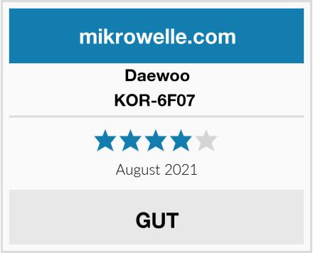 Daewoo KOR-6F07  Test
