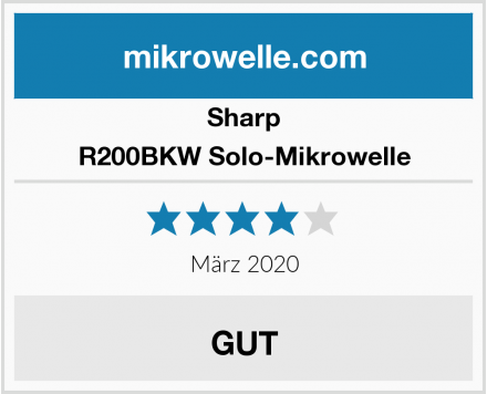 Sharp R200BKW Solo-Mikrowelle Test