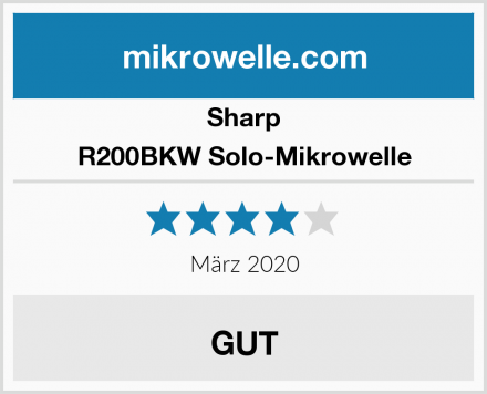 Sharp R200BKW Solo-Mikrowelle Test