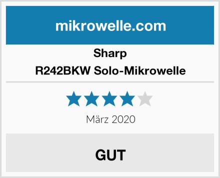 Sharp R242BKW Solo-Mikrowelle Test