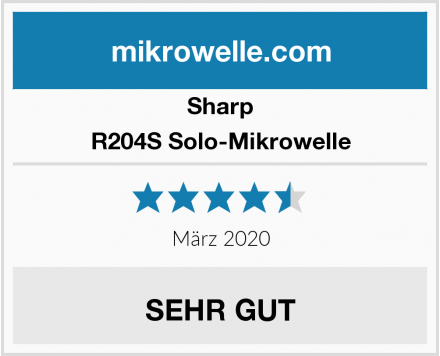 Sharp R204S Solo-Mikrowelle Test