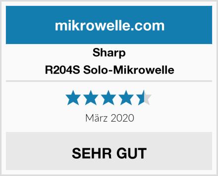 Sharp R204S Solo-Mikrowelle Test