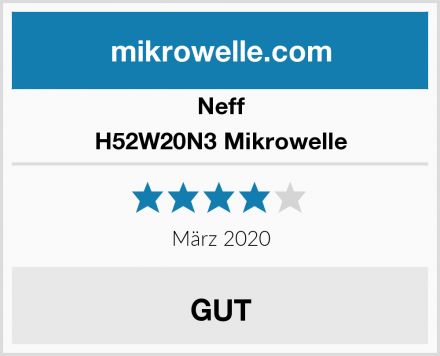 Neff H52W20N3 Mikrowelle Test
