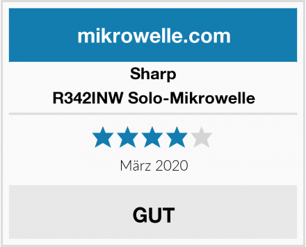 Sharp R342INW Solo-Mikrowelle Test