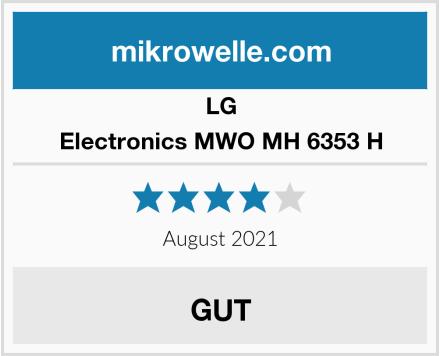 LG Electronics MWO MH 6353 H Test