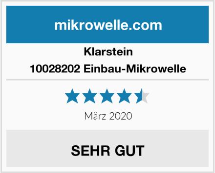 Klarstein 10028202 Einbau-Mikrowelle Test