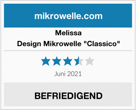 "Melissa Design Mikrowelle ""Classico"" Test"