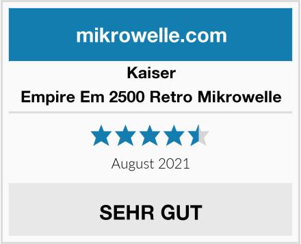Kaiser Empire Em 2500 Retro Mikrowelle Test