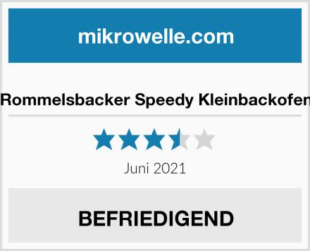 Rommelsbacker Speedy Kleinbackofen Test